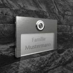 Design Türklingel Aluminium 100x70mm mit Acrylglas beleuchtet