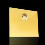 Türklingel Messing 110x90mm 4mm Stärke ohne Beschriftung Typ2