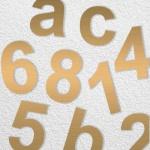 Hausnummern aus Edelstahl 170mm Höhe Bronze Effekt seidenmatt