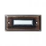 Türklingel Kontaktplatte bronzeguss 1-fach