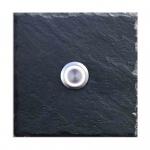 Klingelschild Schiefer 100x100 mm Blanko