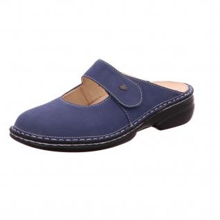 Finn Comfort Pantoletten blau Stanford demin in Größe 42