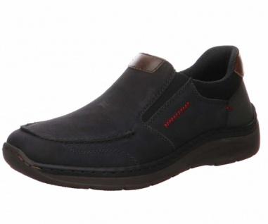 Rieker Sportliche Slipper schwarz in Größe 44