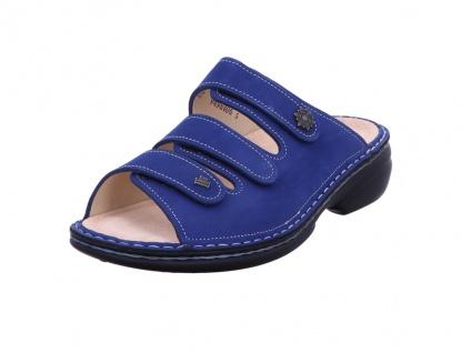 Finn Comfort Pantoletten blau in Größe 37