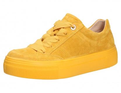 legero Sneaker gelb Damen Schnürschuhe
