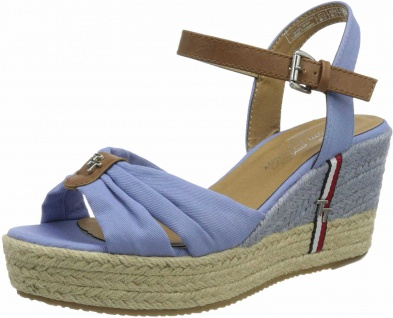 Tom Tailor Komfort Sandalen blau