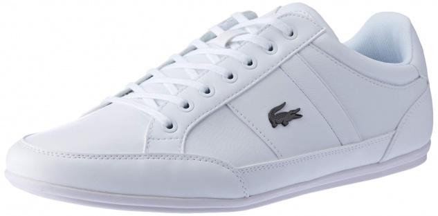 Lacoste Freizeit Schnürer weiss Bei diesem formschönen Schuh