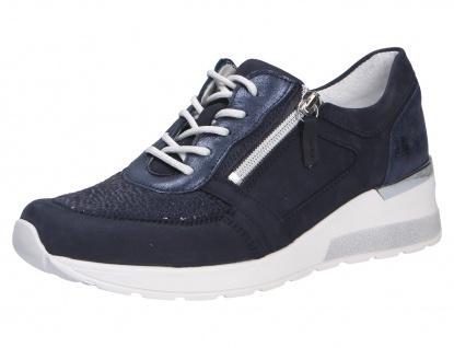 Waldläufer Sneaker blau Damen Schnürschuhe