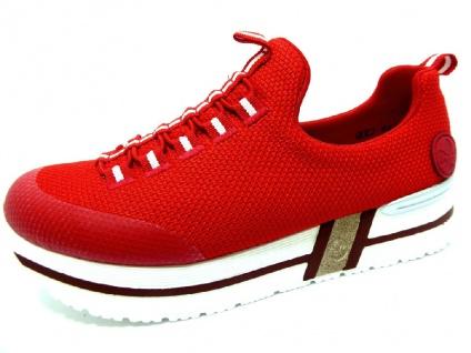 Rieker Sportliche Slipper rot