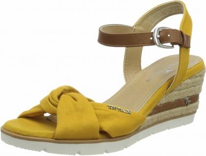 Tom Tailor Komfort Sandalen gelb