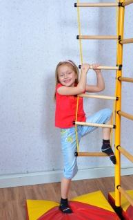 NiroSport FitTop M1 Indoor Klettergerüst für Kinder Sprossenwand für Kinderzimmer Turnwand Kletterwand, TÜV geprüft, kinderleichte Montage, max. Belastung bis ca. 130 kg, Made in Germany - Vorschau 3