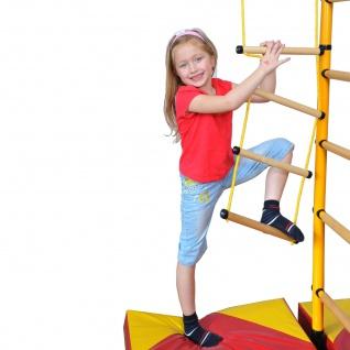NiroSport FitTop M1 Indoor Klettergerüst für Kinder Sprossenwand für Kinderzimmer Turnwand Kletterwand, TÜV geprüft, kinderleichte Montage, max. Belastung bis ca. 130 kg, Made in Germany - Vorschau 2