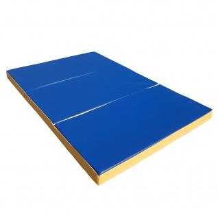 NiroSport Turnmatte 150 x 100 x 8 cm Gymnastikmatte Fitnessmatte Sportmatte Trainingsmatte Weichbodenmatte wasserdicht klappbar