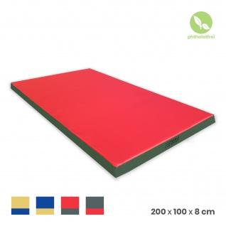 NiroSport Turnmatte 200 x 100 x 8 cm Gymnastikmatte Fitnessmatte Sportmatte Trainingsmatte Weichbodenmatte wasserdicht - Vorschau 2
