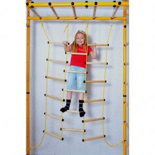 NiroSport FitTop M3 Indoor Klettergerüst für Kinder Sprossenwand für Kinderzimmer Turnwand Kletterwand, TÜV geprüft, kinderleichte Montage, max. Belastung bis ca. 130 kg, Made in Germany - Vorschau 4