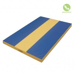 """NiroSport Turnmatte 100 (150, 200) x 100 x 8 cm """"Stripe"""" Gymnastikmatte Fitnessmatte Sportmatte Trainingsmatte Weichbodenmatte wasserdicht"""