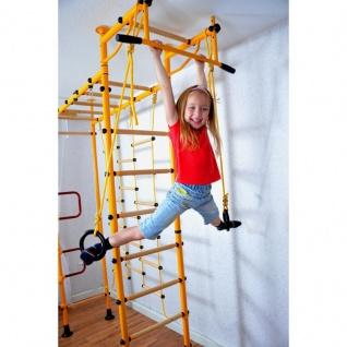 NiroSport FitTop M3 Indoor Klettergerüst für Kinder Sprossenwand für Kinderzimmer Turnwand Kletterwand, TÜV geprüft, kinderleichte Montage, max. Belastung bis ca. 130 kg, Made in Germany - Vorschau 2