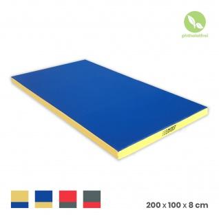 NiroSport Turnmatte 200 x 100 x 8 cm Gymnastikmatte Fitnessmatte Sportmatte Trainingsmatte Weichbodenmatte wasserdicht - Vorschau 1