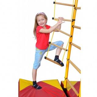 NiroSport FitTop M2 Indoor Klettergerüst für Kinder Sprossenwand für Kinderzimmer Turnwand Kletterwand, TÜV geprüft, kinderleichte Montage, max. Belastung bis ca. 130 kg, Made in Germany - Vorschau 2