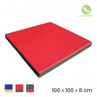 NiroSport Turnmatte 100 x 100 x 8 cm Gymnastikmatte Fitnessmatte Sportmatte Trainingsmatte Weichbodenmatte wasserdicht