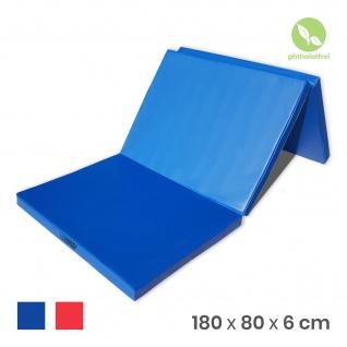 NiroSport Turnmatte 180 x 80 x 6 cm Gymnastikmatte Fitnessmatte Sportmatte Trainingsmatte Weichbodenmatte wasserdicht klappbar