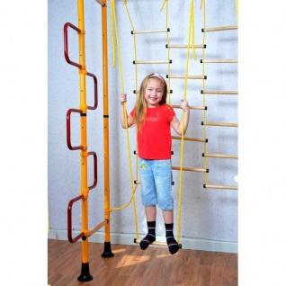 NiroSport FitTop M3 Indoor Klettergerüst für Kinder Sprossenwand für Kinderzimmer Turnwand Kletterwand, TÜV geprüft, kinderleichte Montage, max. Belastung bis ca. 130 kg, Made in Germany - Vorschau 3