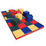 """NiroSport Turnmatte """"Mosaik"""" 200 x 100 x 8 cm Gymnastikmatte Fitnessmatte Sportmatte Trainingsmatte Weichbodenmatte wasserdicht"""