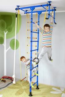 NiroSport FitTop M1 Indoor Klettergerüst für Kinder Sprossenwand für Kinderzimmer Turnwand Kletterwand, TÜV geprüft, kinderleichte Montage, max. Belastung bis ca. 130 kg, Made in Germany - Vorschau 5