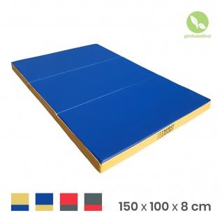 NiroSport Turnmatte 150 x 100 x 8 cm Gymnastikmatte Fitnessmatte Sportmatte Trainingsmatte Weichbodenmatte wasserdicht klappbar - Vorschau 5