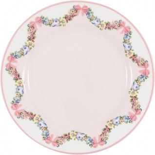 Greengate Teller MAYA PALE PINK Rosa 20 cm Porzellan Kuchenteller Dessertteller