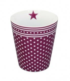 Krasilnikoff Happy Mug Becher MICRO DOTS Pflaume Punkte Kaffeebecher Tasse