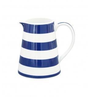 Krasilnikoff Milchkännchen STREIFEN Dunkelblau Porzellan blau weiß gestreift