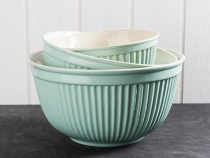IB Laursen Schalensatz MYNTE Hellgrün Keramik Schüssel GREEN TEA 3er Set Schalen