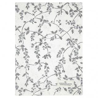 Greengate Geschirrtuch AMIRA Weiß mit Blumen Baumwolle 50x70 cm Küchentuch
