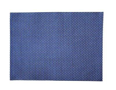 Krasilnikoff Tischset PUNKTE Dunkelblau Baumwolle Platzset Blau Weiß gepunktet