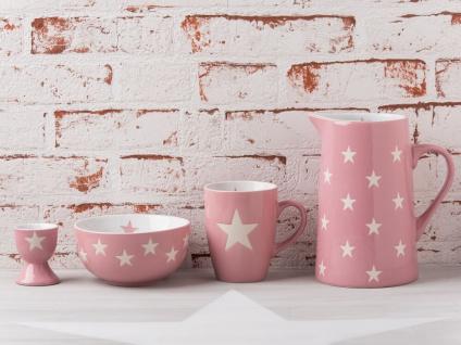 Krasilnikoff Krug BRIGHTEST STAR Rosa Kanne pink Sterne weiß Karaffe 1.25 L - Vorschau 3