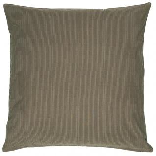 IB Laursen Kissenhülle Olive Schmale Streifen Kissen 50x50 Kissenbezug Baumwolle