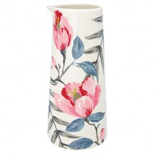 Greengate Krug MAGNOLIA Weiß Blumen Kanne Porzellan Geschirr 0.7 Liter Karaffe
