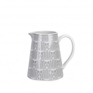 Krasilnikoff Milchkännchen BLOSSOM Hellgrau Porzellan Sahnekännchen 200 ml Grau