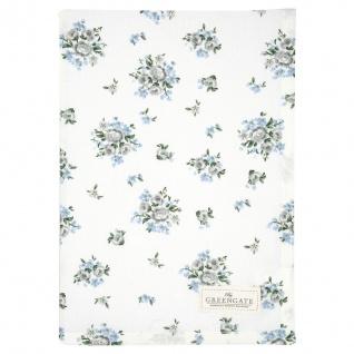 Greengate Geschirrtuch NICOLINE Weiß Blau Blumen Baumwolle 50x70 cm Handtuch