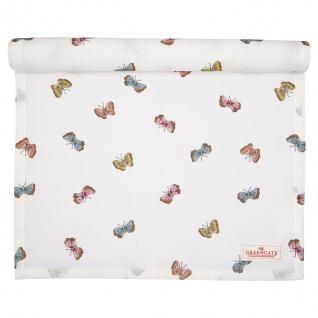 Greengate Tischläufer MAISIE Weiß Schmetterlinge Baumwolle 45x140 cm Tischdecke