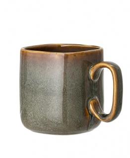 Bloomingville Becher AIME Braun Keramik Geschirr XL Tasse 4-eckig Kaffeebecher