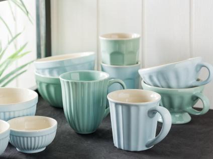 IB Laursen MYNTE Becher Rillen Blau STILLWATER Keramik Geschirr Tasse 250 ml - Vorschau 3