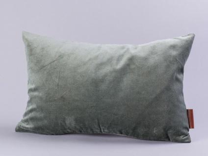 Cozy Living Kissen Samt dunkelgrau Baumwolle grau 30x50 mit Füllung