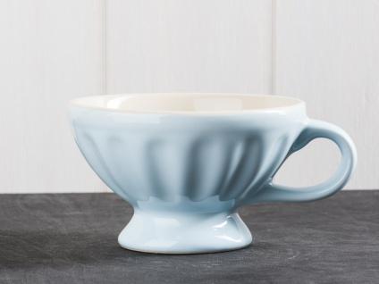 IB Laursen MYNTE Jumbobecher Blau Keramik Geschirr STILLWATER XL Tasse 300 ml