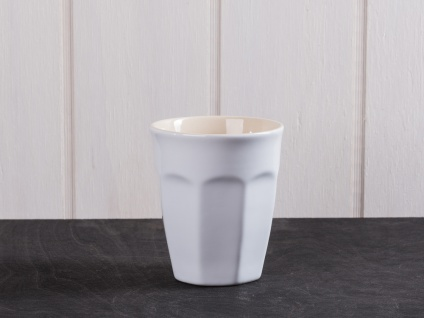 IB Laursen MYNTE Cafe Latte Becher Weiß Keramik Geschirr PURE WHITE Tasse 250 ml