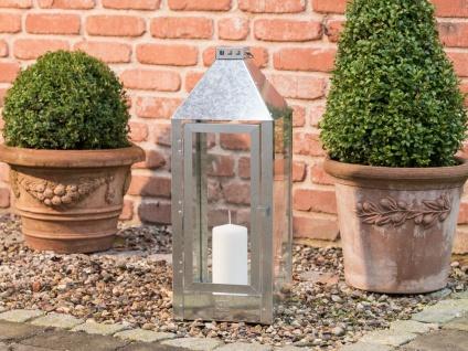 A2 Living Allwetter Laterne Maxi verzinkt 60 cm Metall Outdoor wetterfest