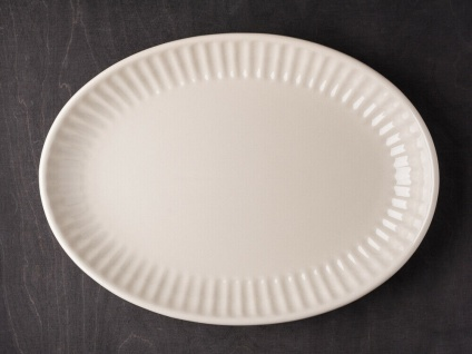 IB Laursen MYNTE Servierplatte 30 cm Beige Keramik Geschirr Teller Latte Tablett