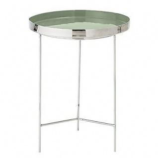 Bloomingville Beistelltisch silber grün Aluminium Tisch 40 cm Höhe 50 cm Metall