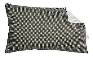 A.U Maison - Kissen mit Füllung dunkelgrau Punkte hellgrau Muster 30x50 Baumwoll